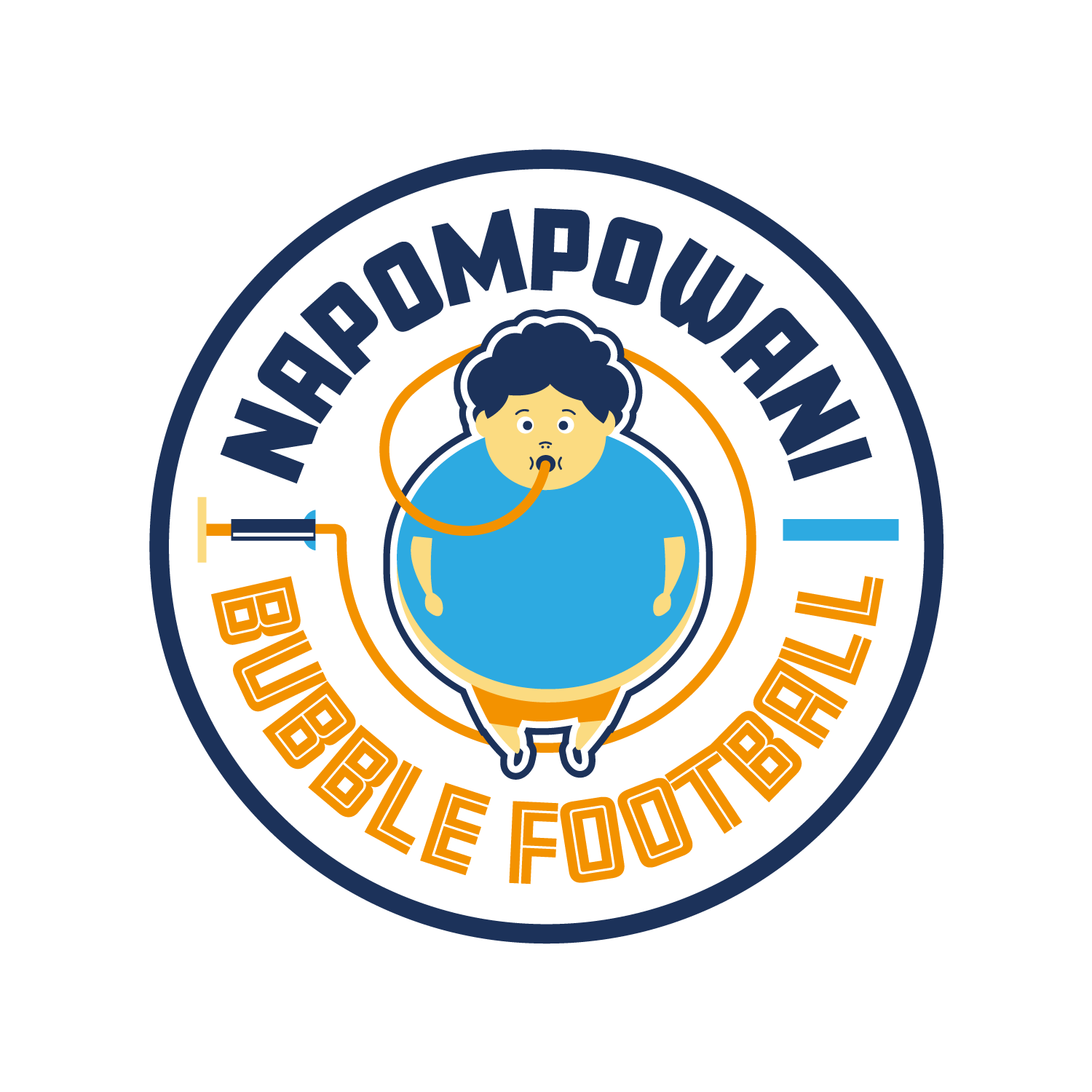 Logo Napompowani Bubble Football